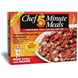 Chef 5 Minute Meals Beef Chili with Beans Self-Heating Boxed Meals