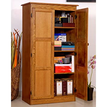 Amazon.com : Concepts in Wood Dry Oak KT613A Storage/Utility ...