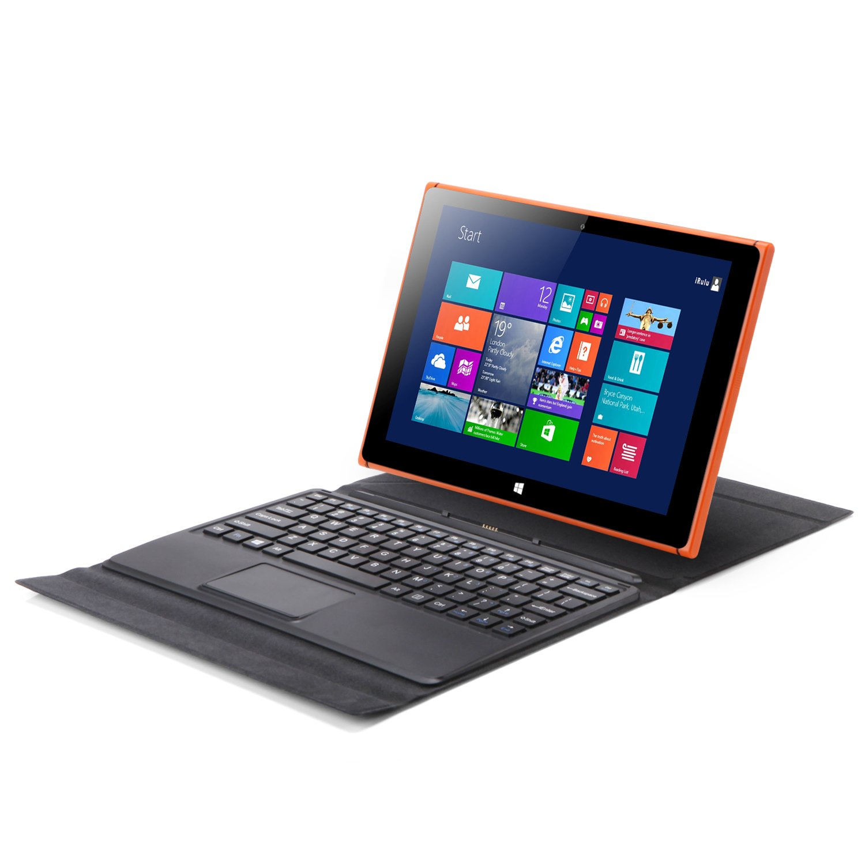 iRULU Walknbook 2 Tablet/Laptop 2-in-1(W20) Windows 10 Notebook & Computer With Detachable Keyboard Intel Quad Core Processor Perfect For Work Games & Entertainment 2+32 GB Storage Orange by iRULU