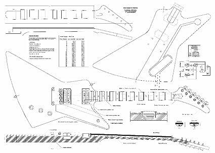 Planes de juego de 3 Gibson guitarra eléctrica – Explorer, Flying V, Firebird Studio