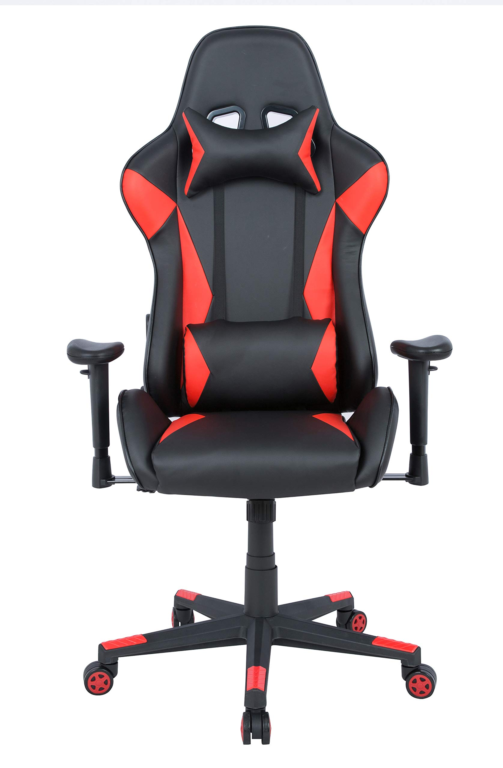 AmazonBasics BIFMA Certified Gaming/Racing Style Office Chair - with Removable Headrest and High Back Cushion - Red by AmazonBasics