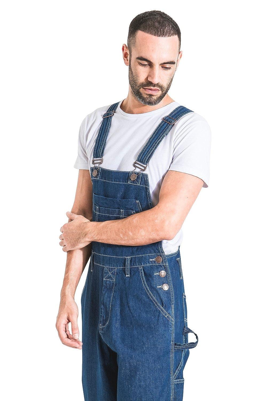 /'Stonewash/' Salopette a Buon Mercato MENSVALUESW-30W Uskees Salopette Jeans Uomo vestibilit/à Morbida