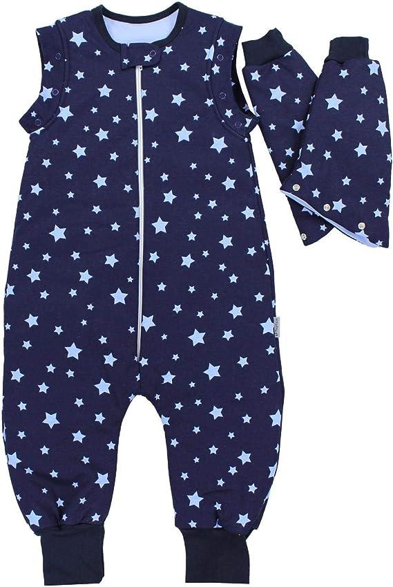 Farbe TupTam Unisex Baby Winter Schlafsack mit Beinen Sternchen Grau//Weiß Gr