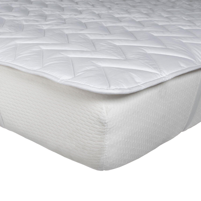 Homescapes Gesteppte Fleece Matratzenauflage ca. 90 x 190 cm, weich und kuschelig, wärmendes Unterbett Matratzenschoner aus 100% Polyester, Matratzen Topper B00DDSF7TK