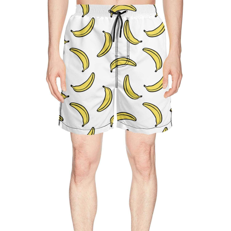 Men's Banana Bananas White Yellow Board Shorts Surfing Outdoor Water Sports Breathable Boardshorts