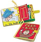 Jellycat Soft Cloth Books, Peek A Baby