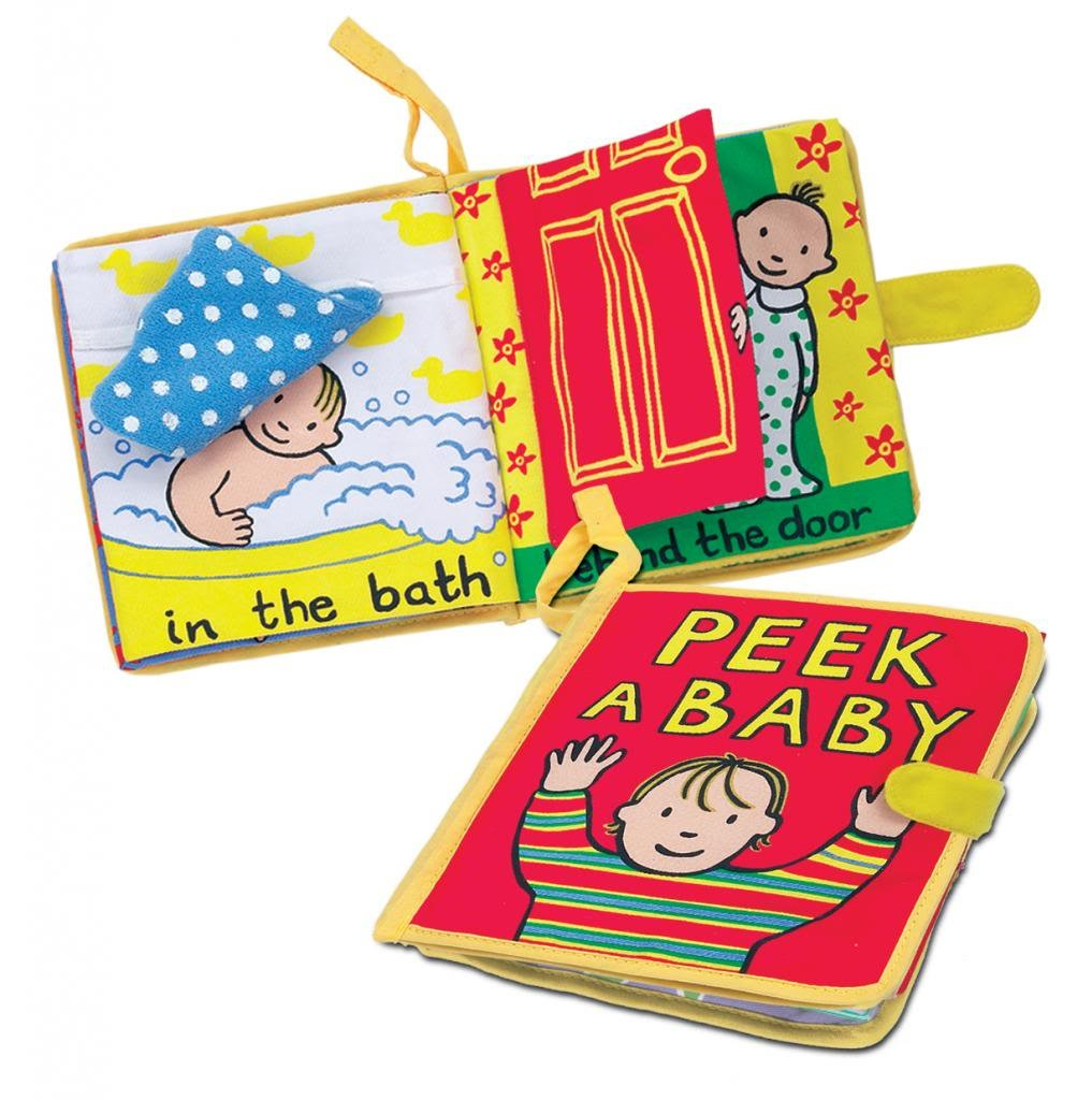 Amazon Jellycat Soft Cloth Books Peek A Baby Shape And Color Recognition Toys