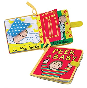 jellycat soft cloth books peek a baby - Colors Book