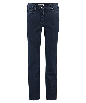 blau Zerres Damen Jeans Greta elastische Einsätze