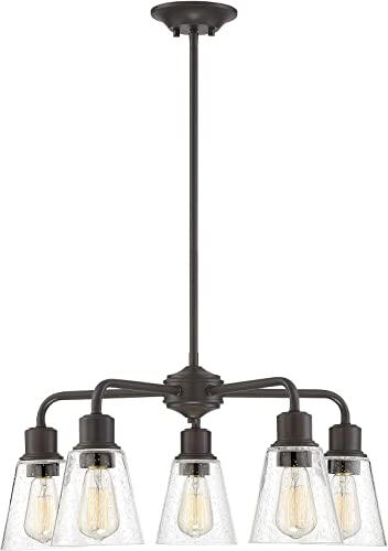 Trade Winds Lighting TW10051ORB 5-Light Vintage Rustic Industrial Chandelier Ceiling Light