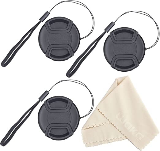 Lens Cap Side Pinch + Lens Cap Holder Nw Direct Microfiber Cleaning Cloth for Fujifilm X-A2 77mm