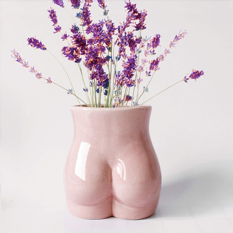 Gelible Body Flower Vase, Ceramic Minimalist Vase Decorative Flower Vase, Flower Arrangement Creative Vase,Home Office Decoration and Events