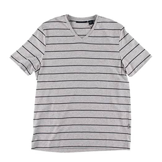 e6f0d3afa7 Perry Ellis Mens Wide Stripe V Graphic T-Shirt alloyheather S