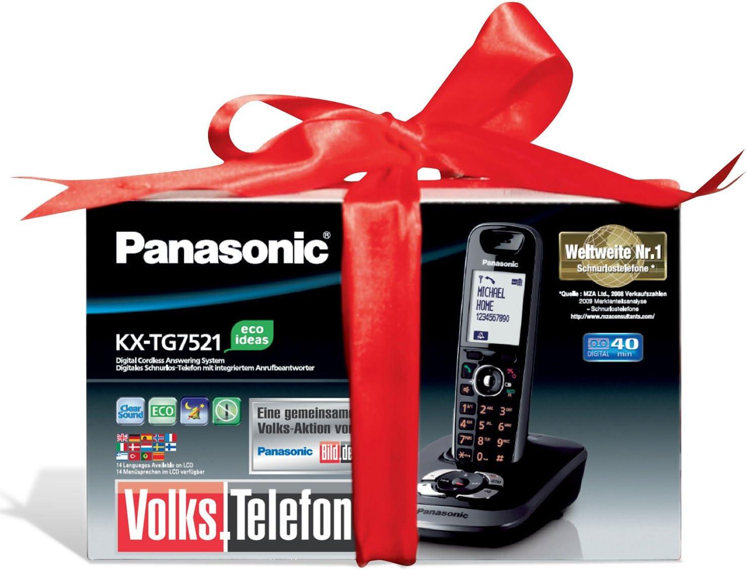 Panasonic KX-TG7521, base&handset, 200 entradas, 40 min, graphic, Blanco, 5.33 cm (2.1