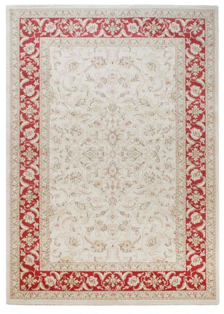 Teppich Wohnzimmer Orient Carpet klassisches Design Windsor Rug 100% Polypropylen Polypropylen Polypropylen 120x170 cm Rechteckig Rot Grau   Teppiche günstig online kaufen 860899