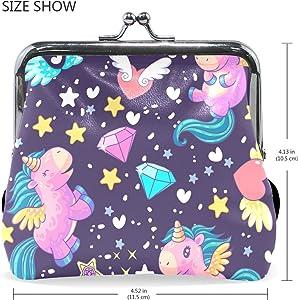 Amazon.com: Bonito monedero de unicornio con cierre de ...