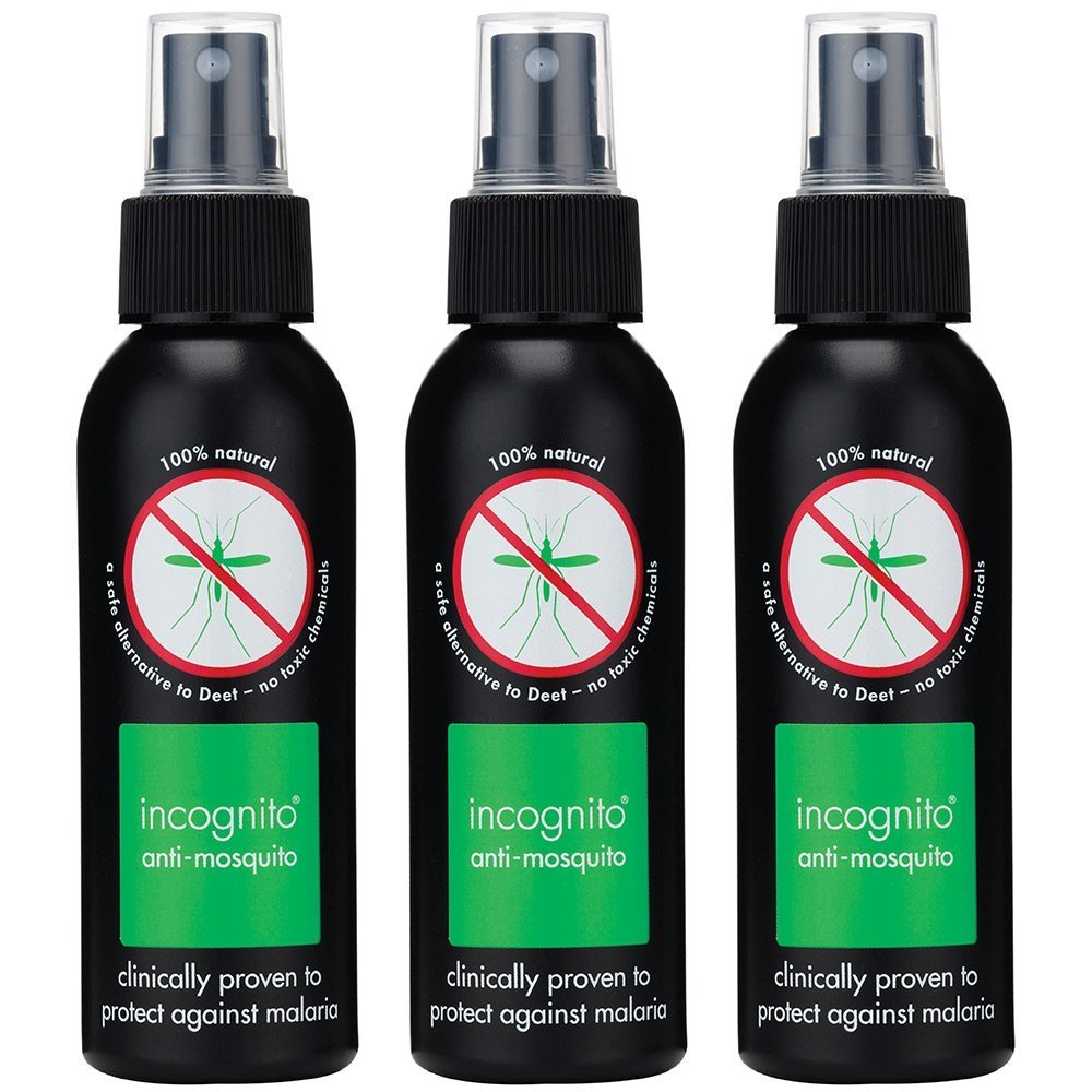 Incognito INCSPY003 100 ml Insect Repellent Spray - Transparent (Pack of 3)