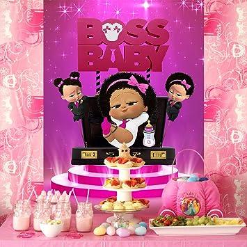 Boss Girl Baby Cake Topper Purple