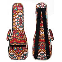 Meiyiu Ukulele Bag 23 Inch Tropical Style Backpack Double Shoulder Strap Cotton Padded Ukelele Carrying Case