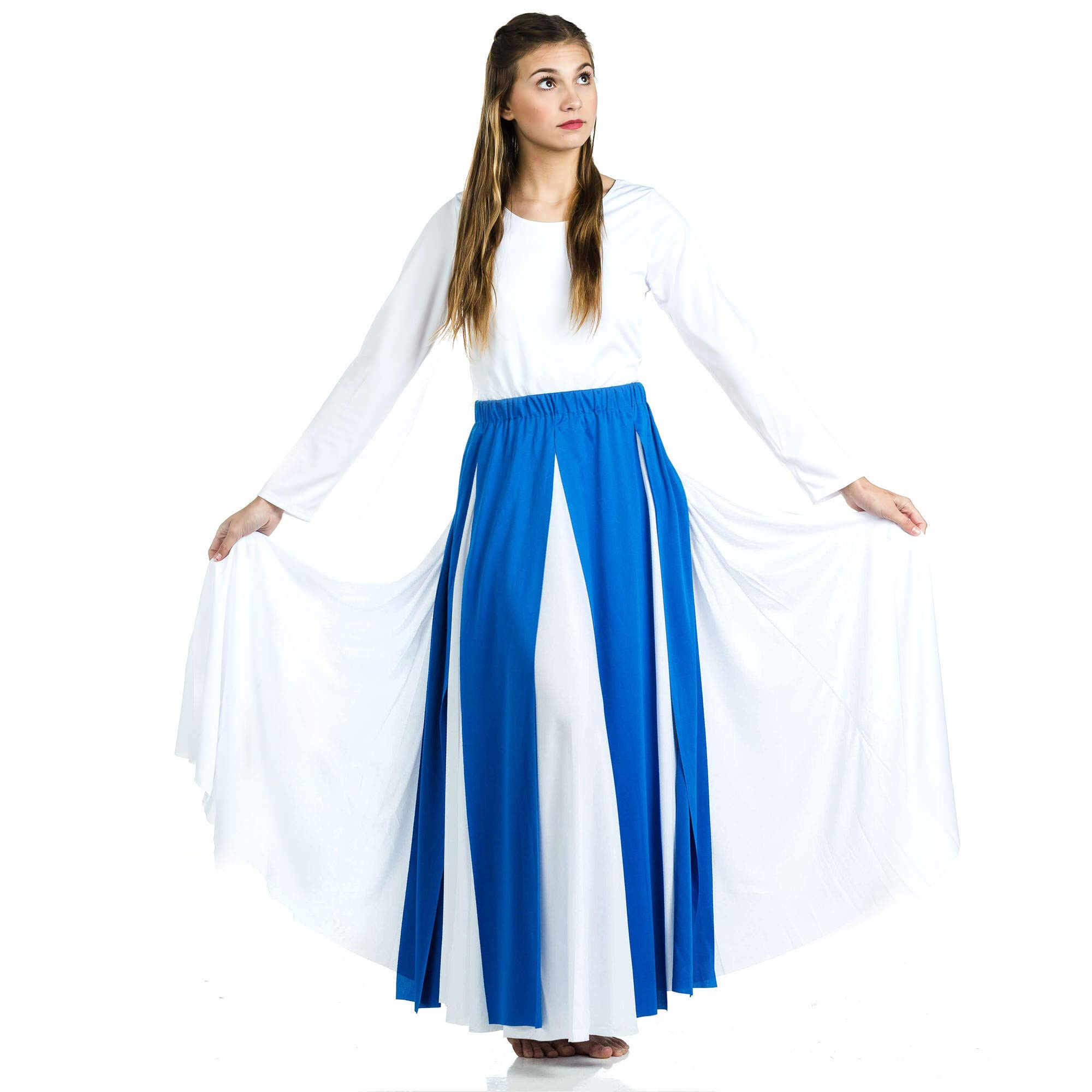 Danzcue Praise Dance Streamer Skirt, Bright Royal, S-M-Adult by Danzcue