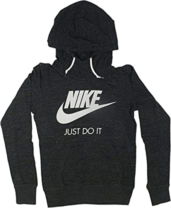 hoja famoso Dar a luz  Amazon.com: Nike Gym Vintage Pullover Hoodie - Womens XS Heathered Black  Sail 823701: Clothing