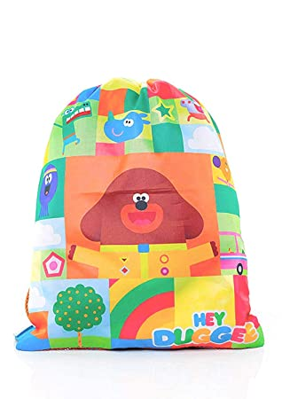 Hey Duggee Drawstring Bag Sports Bags Childrens Backpack Childs Rucksack  The Squirrel Club  Amazon.co.uk  Luggage dd480734a0