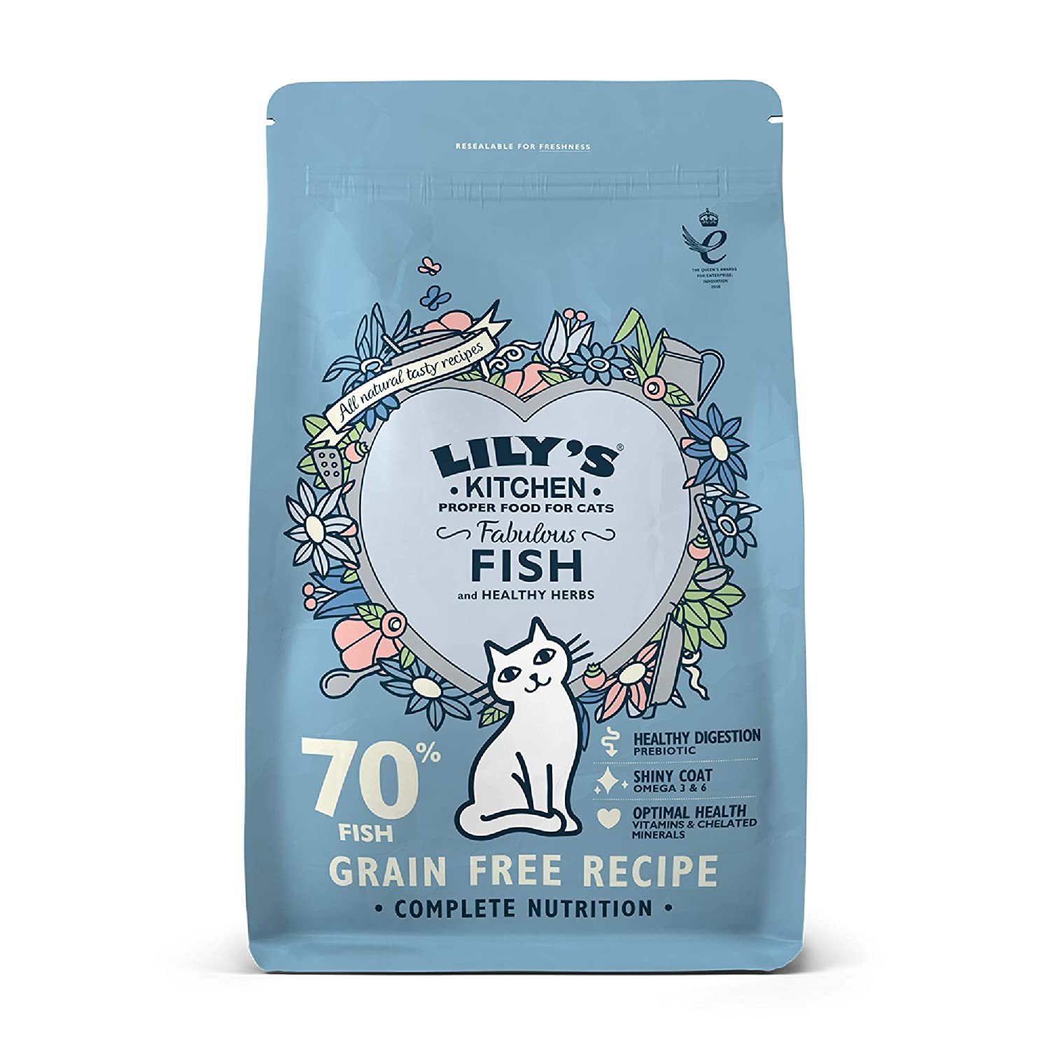 Lily\'s Kitchen Adult Fish Complete Dry Cat Food (4 x 800 g): Amazon ...