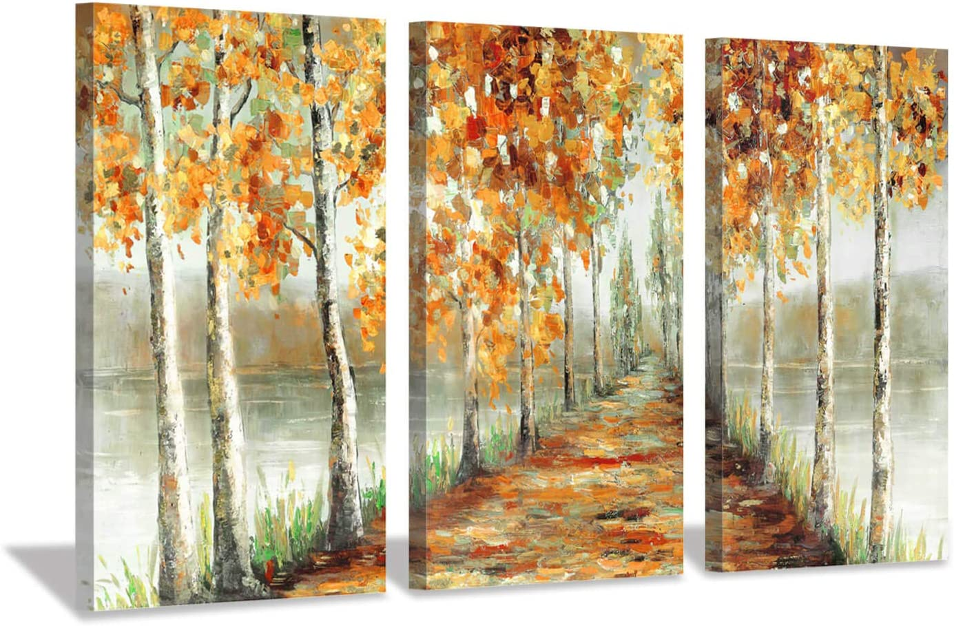 Modern Home decor Art wall Golden Autumn Landscape Painting Printed on Canvas 12