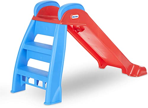 Little Tikes First Slide with blue step ladder and red slide track