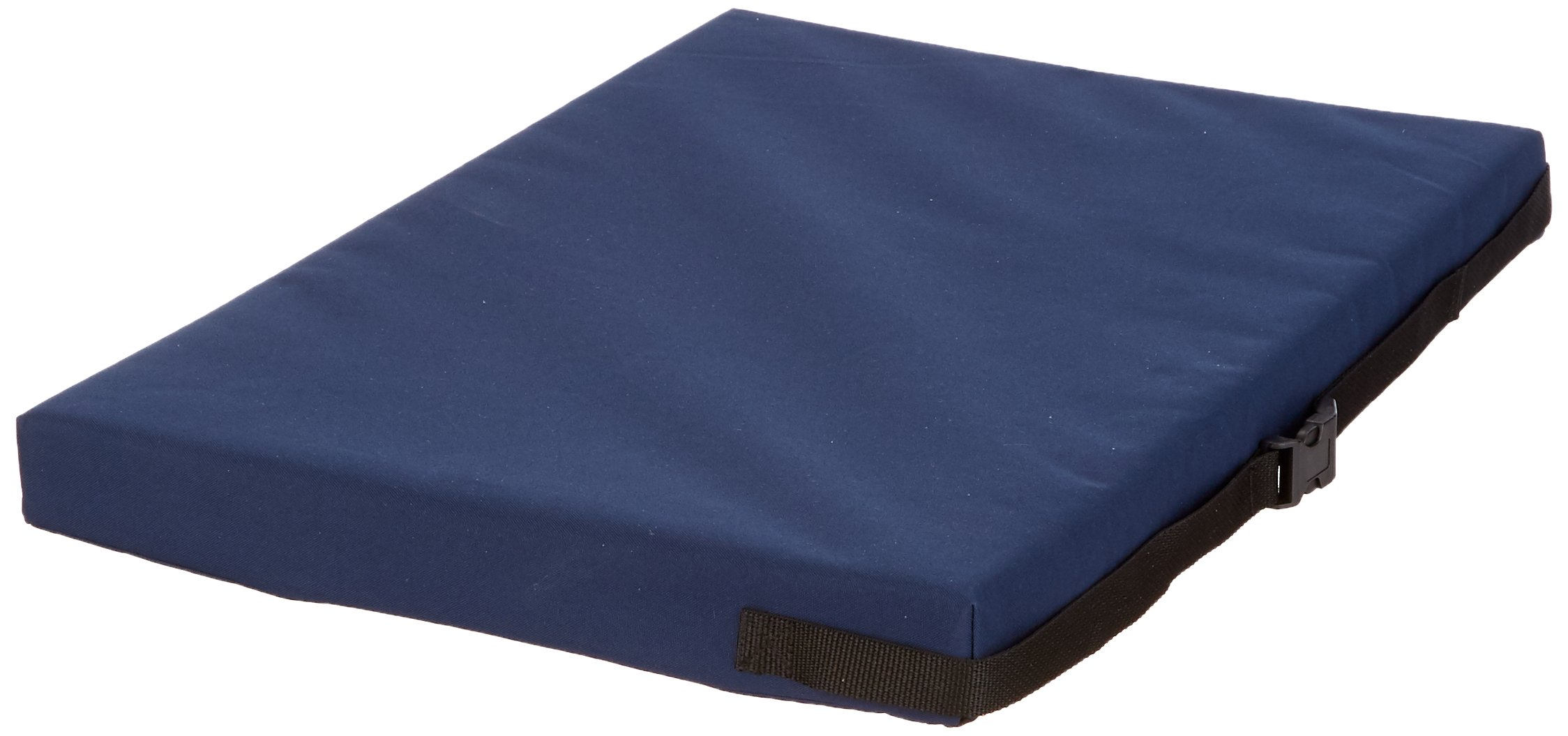 Sammons Preston Bariatric Memory Foam Cushion, 26'' x 18'', Blue, Wheelchair Cushion, 2'' Memory Foam Padding, Support Pillow, Wipe Clean, Accommodates Weight Up to 400 lbs