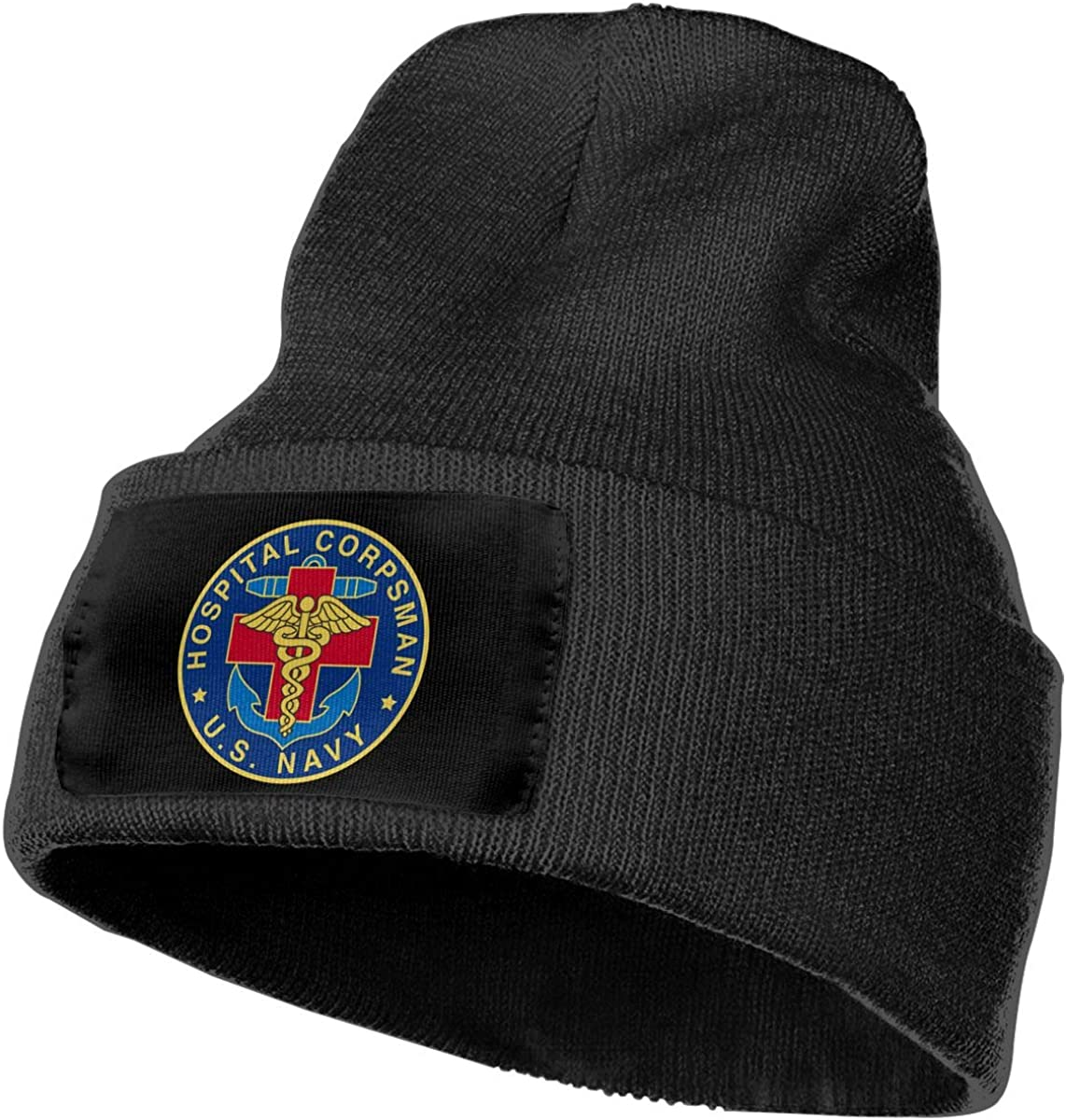 Feeke Mens/&Womens US Navy Hospital Corpsman Beanie Cap Thick,Soft,Warm Slouchy Knit Hat Winter Soft Ski Cap