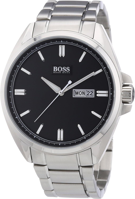 Hugo Boss 1512878 - Reloj analógico de Cuarzo para Hombre con Correa de Acero Inoxidable, Color Plateado