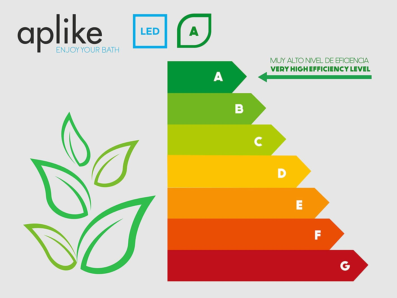 ba/ño iluminado. potente y moderna Clase de eficiencia energ/ética A++ perfecto para el ba/ño. L/ámpara de espejo Aplique de Ba/ño 50cm Luz,Led 260Lumenes L/ámpara de ba/ño 5w 5700kluz brillante IP44