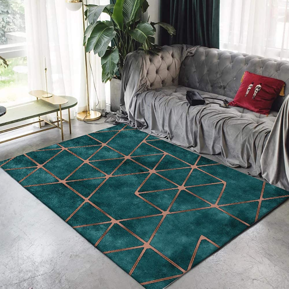 Modern Abstract Area Rug Brown Green Carpet Contemporary Style Throw Rug Door Mat For Bedroom Living Room Mat Green 2 5 X 9 Home Kitchen