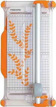 Fiskars 1003921 - Cizalla rotatoria portátil, A4, con