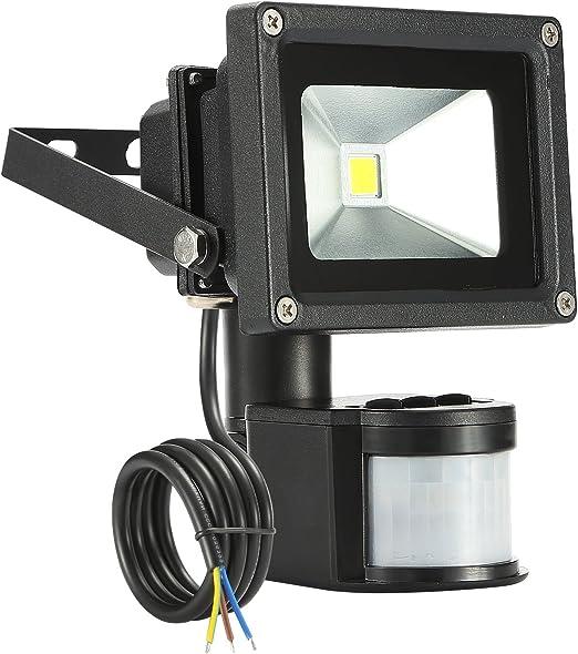 LED 10W 6000K Flood Light,Foco LED con Sensor Movimiento ...