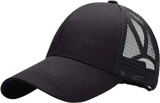 Haifly Gorra de béisbol para Mujer con Agujero para coleta y ...