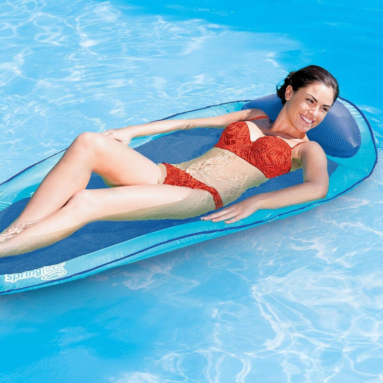 Swimways 6045237 Original Spring Pool Float In 3 (Aqua & Blue)