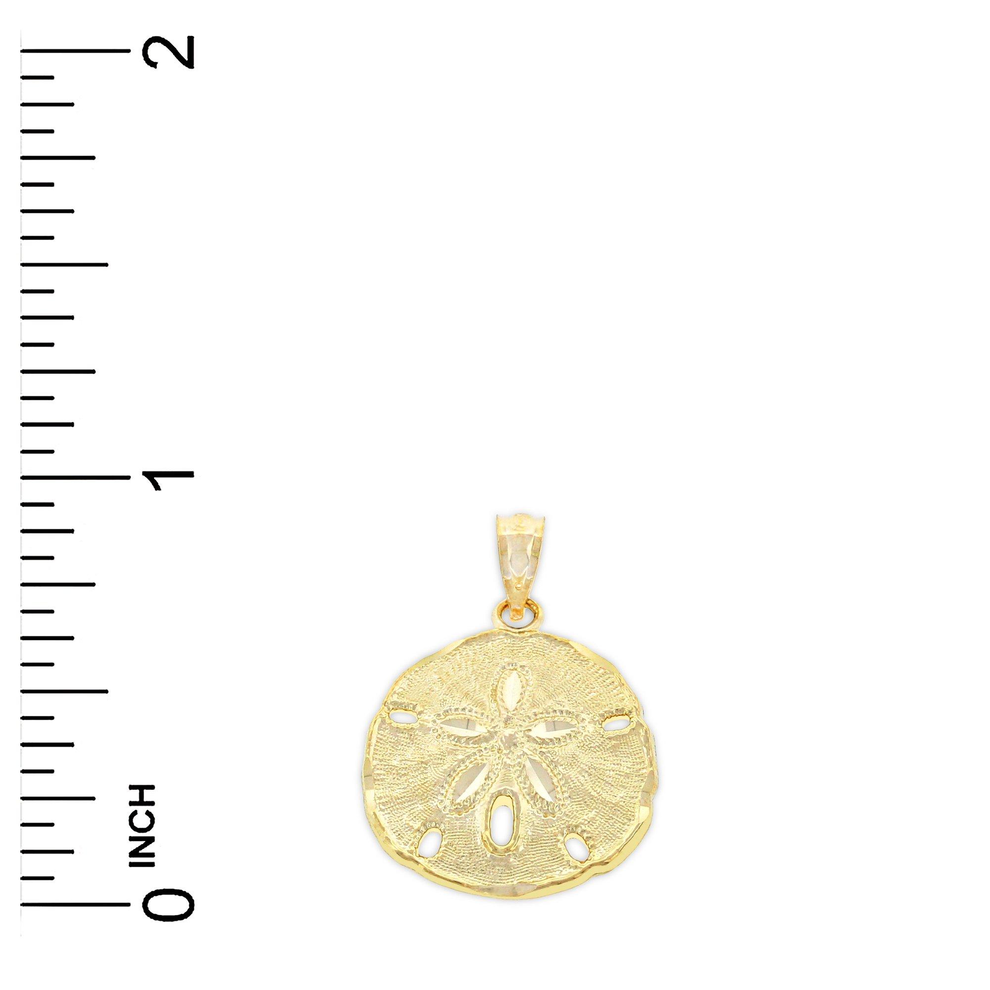 Charm America - Gold Sand Dollar Charm - 10 Karat Solid Gold by Charm America (Image #2)