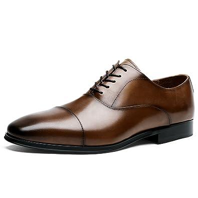 d3c77f104493 DESAI Homme Chaussures de Ville à Lacets Oxford - Marron - 39 EU / 38 CN