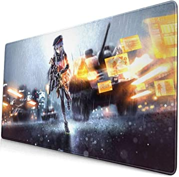 Fu-tura-ma Mouse Pad Rectangle Non-Slip Rubber Gaming//Working Geek Mousepad Comfortable Desk Mouse Pad 15.8x29.5 in