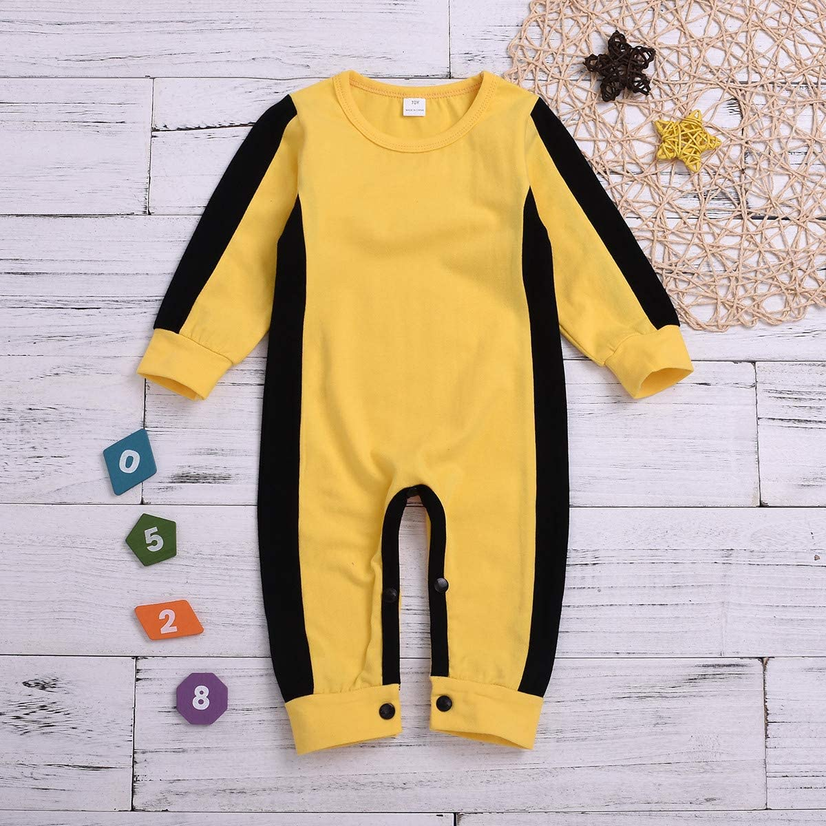 LQSZ Boys The Ink Machine Party Jumpsuit Classic with Headwear Black and Yellow 5-12Y