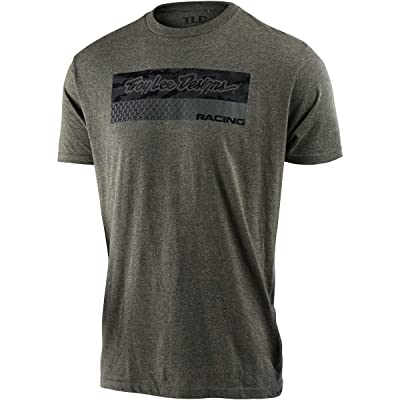 Troy Lee Designs Men's Racing Block Feed Shirts,Small,Sage Black Heather: Clothing