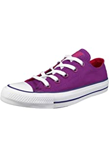 529c0ef1e342 Converse Womens Chuck Taylor All Star Ox Trainers in Icon Violet Pink Pop