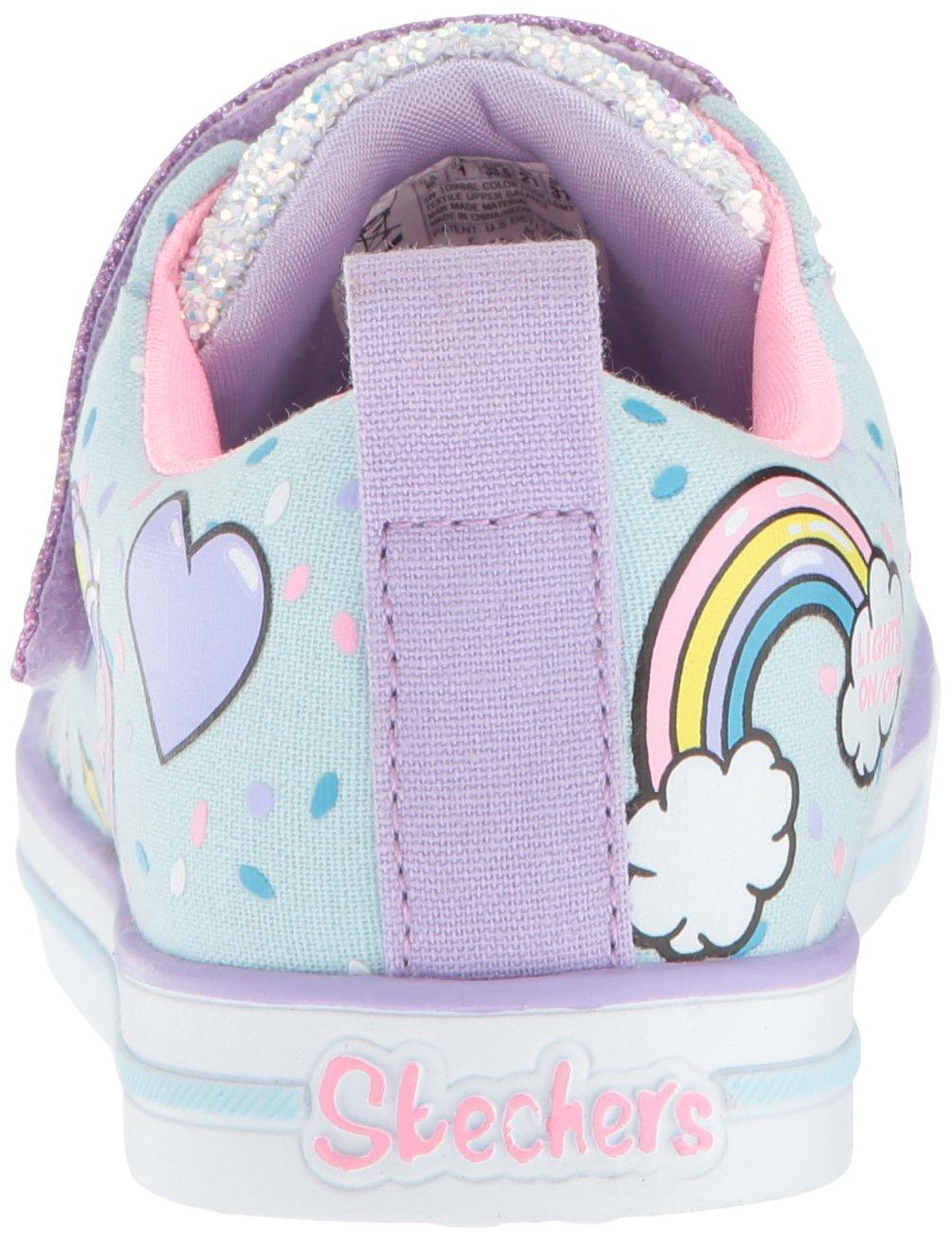 Skechers Kids Girls' Sparkle LITE-Unicorn Craze Sneaker, Light Blue/Multi, 9 Medium US Toddler by Skechers (Image #2)