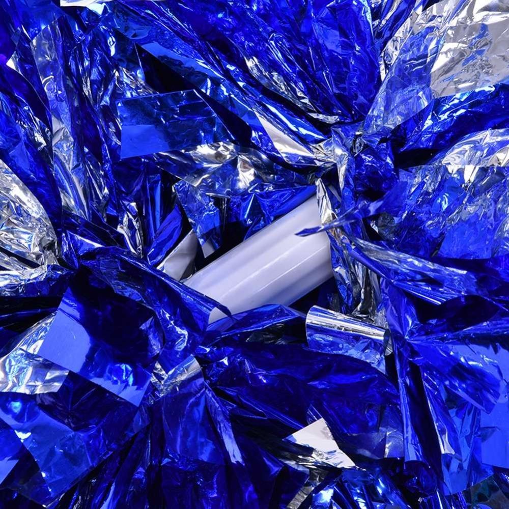 Dilwe Cheerleader Pom Poms 1 Paar 8 Farben Qualit/ät Kunststoff Cheerleader Aerobic Hand Blume Ball f/ür Spiele Schule Sport Wettbewerb