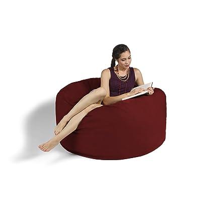 Fine Jaxx 4 Ft Bean Bag Chair Cinnabar Dailytribune Chair Design For Home Dailytribuneorg