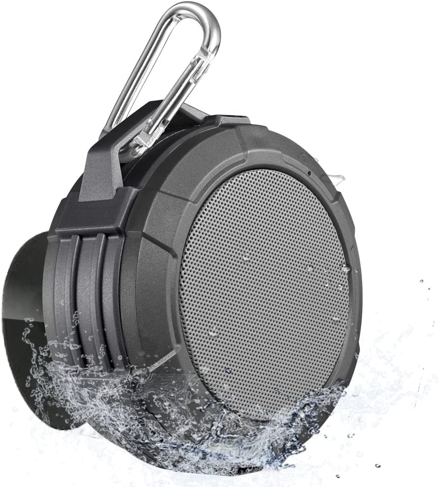 Altavoz Bluetooth, Portátil Impermeable para la Ducha - 5W Mini Altavoz Bluetooth V4.2, Soporte Tarjetas Micro SD, Micrófono Manos Libres, Batería con autonomía para 7 Horas,IPX5 Altavoz Inalámbrico: Amazon.es: Electrónica