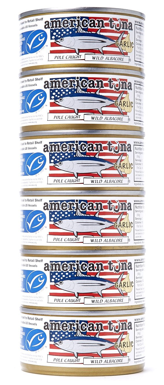 American Tuna 6oz MSC Certified with Garlic (No Draining)