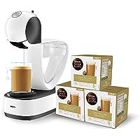 Krups Dolce Gusto Infinissima KP1701 - Cafetera de cápsulas, 15 bares de presión, blanco + Nescafé DOLCE GUSTO CAFÉ CON…